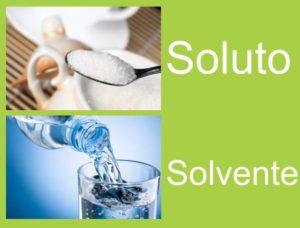 solución de soluto y solvente