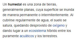 Humedal definición