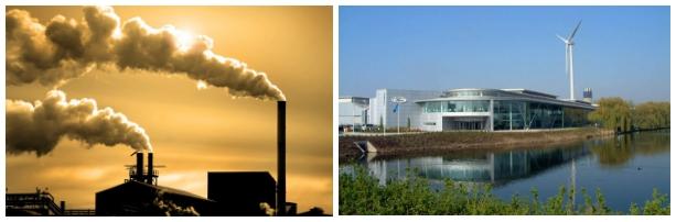 Contaminación del aire por fabricas - Imagen