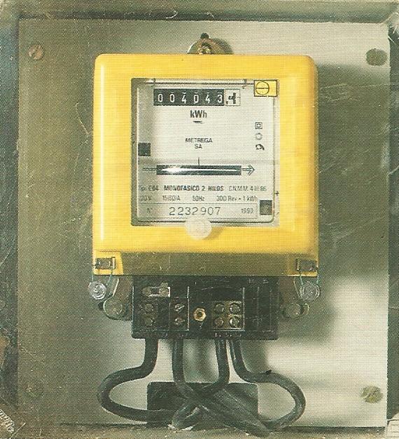 contadores electricos antiguos - Imagen