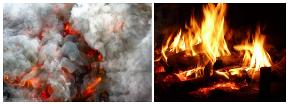 contaminación del aire por la combustión de leña - Imagen